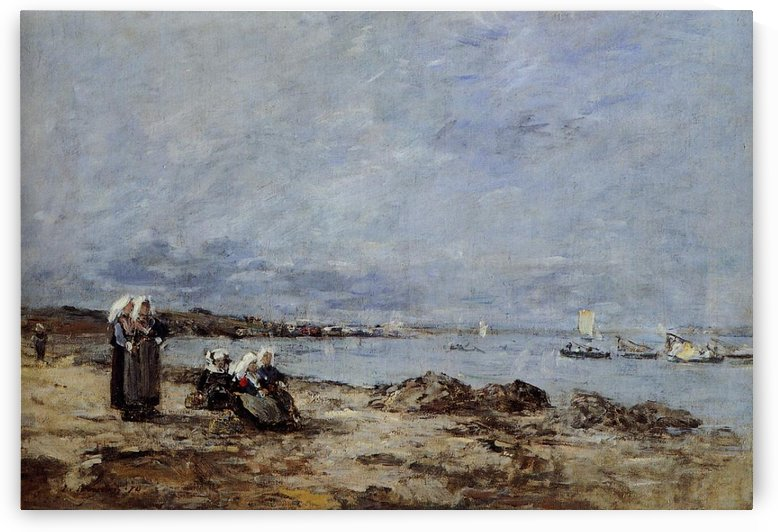 The River at Plougastel by Eugene Boudin