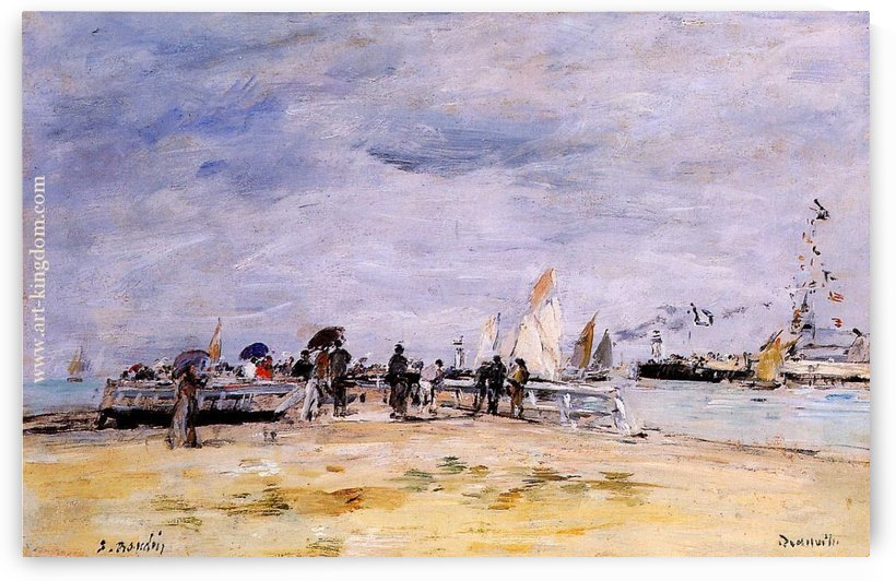 Shore of Deauville by Eugene Boudin