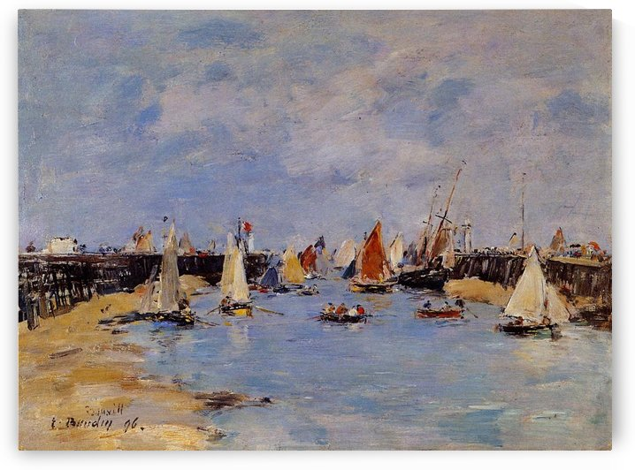 Low-Tide by Eugene Boudin