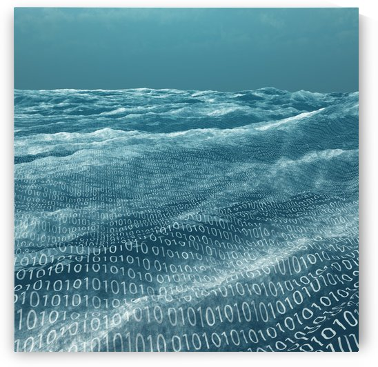 Vast binary code Sea by Bruce Rolff