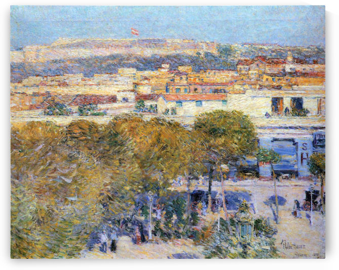 Central Place and Fort Cabanas, Havana by Hassam by Hassam