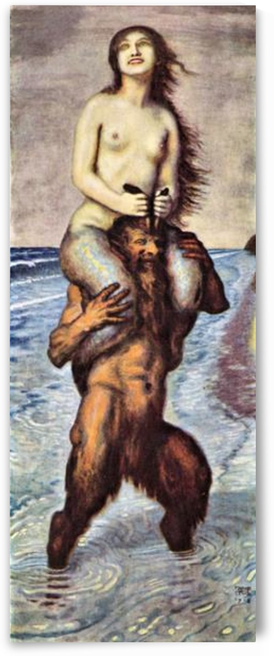 Faun and Nixe by Franz von Stuck by Franz von Stuck