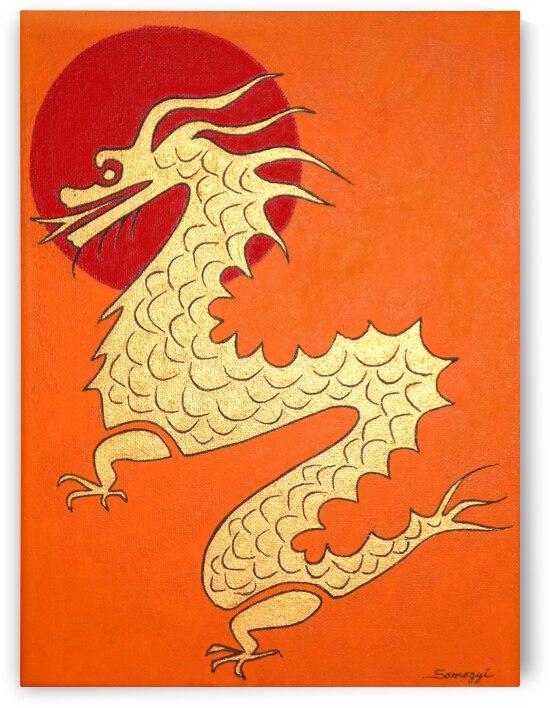 Asian Dragon Icon No.1 by Jayne Somogy