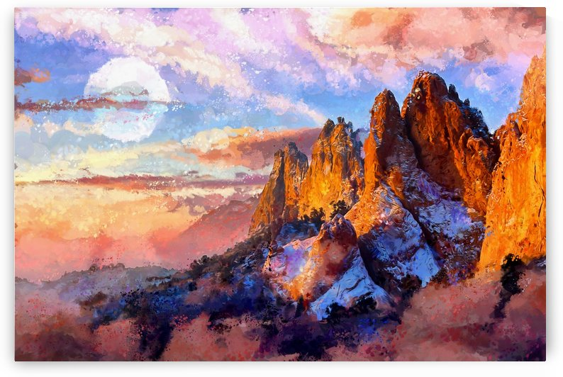 Colorado Mountains - Digital Painting III by Art Design Works