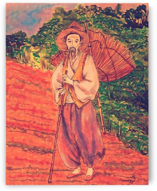 Korean Farmer on Red Earth by Jayne Somogy