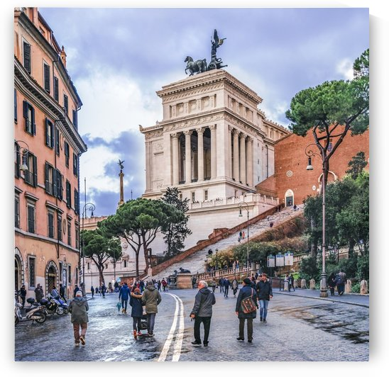 Urban Winter Street Scene, Rome, Italy by Daniel Ferreia Leites Ciccarino