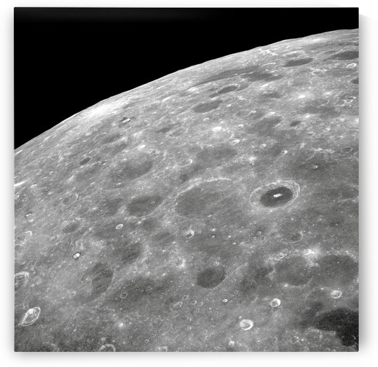 View of the lunar surface. by StocktrekImages