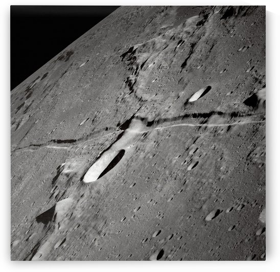 An oblique view of the Moons surface. by StocktrekImages