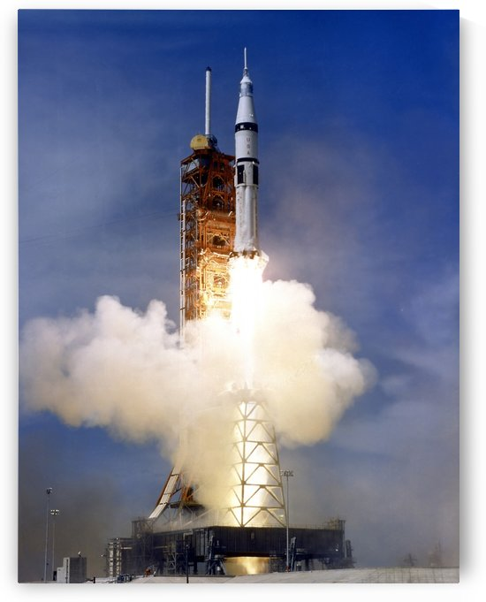 Liftoff of the Saturn IB launch vehicle. by StocktrekImages