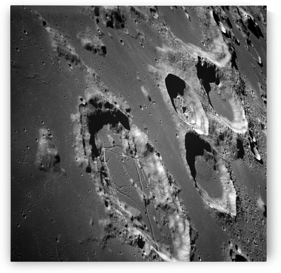 Oblique view of the lunar surface. by StocktrekImages