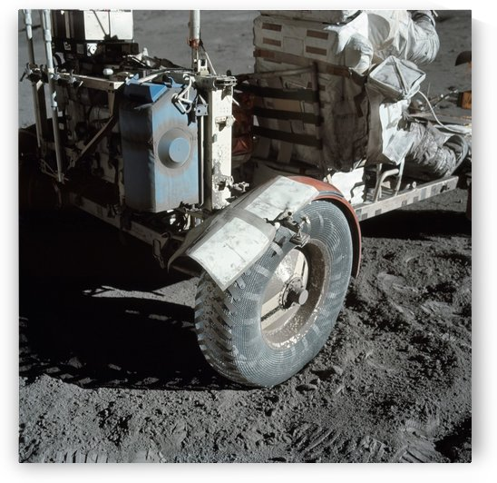 A close-up view of the lunar roving vehicle during Apollo 17 EVA. by StocktrekImages