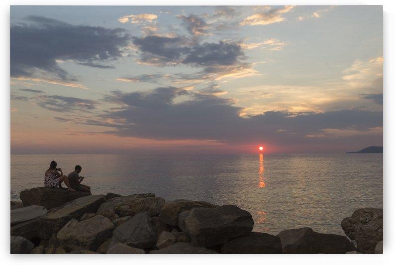 Sunset in Acciaroli by Pietro Ebner