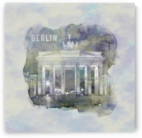 BERLIN Brandenburg Gate   jazzy watercolor by Melanie Viola