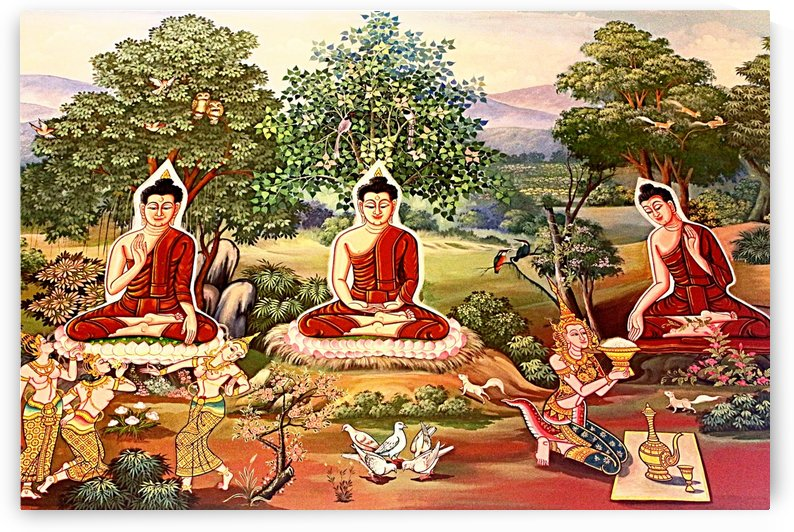 Wall Art Thai  Temple 04_OSG by One Simple Gallery