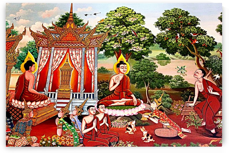 Wall Art Thai  Temple 8 by One Simple Gallery