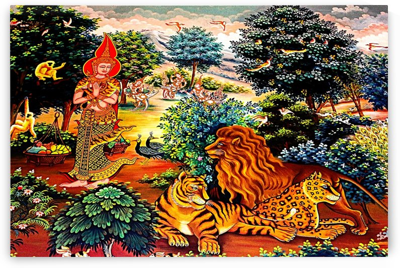 Wall Art Thai  Temple 18_OSG by One Simple Gallery