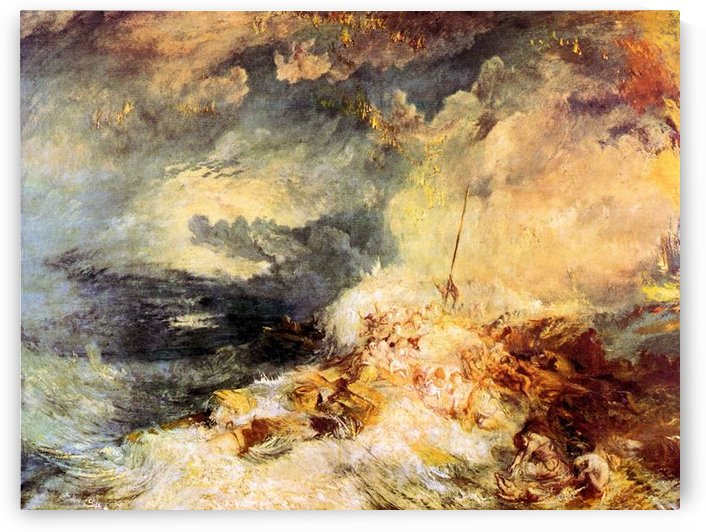 Fire at sea by Joseph Mallord Turner by Joseph Mallord Turner