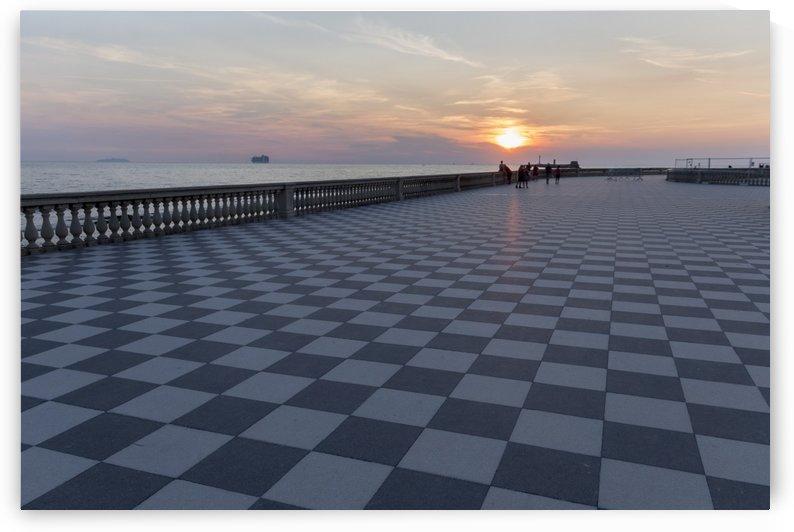 Sunset in Livorno - Piazza Mascagni by Pietro Ebner