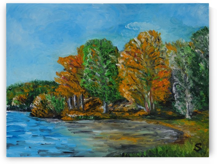 Počuvadlo lake Banska Stiavnica oil painting by Tomas Streulinger by Edwin John