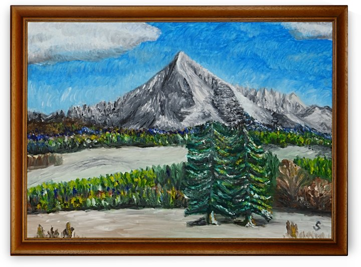 Krivan High Tatra oil painting by Tomas Strelinger by Edwin John