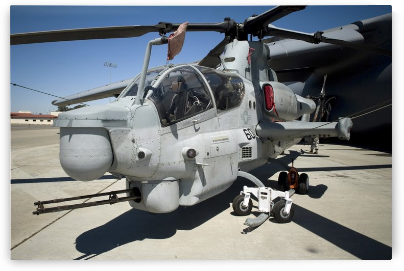 AH-1Z Super Cobra attack helicopter. by StocktrekImages