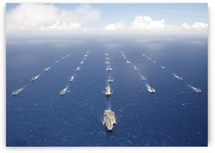 Ships and submarines participating in the Rim of the Pacific exercise. by StocktrekImages