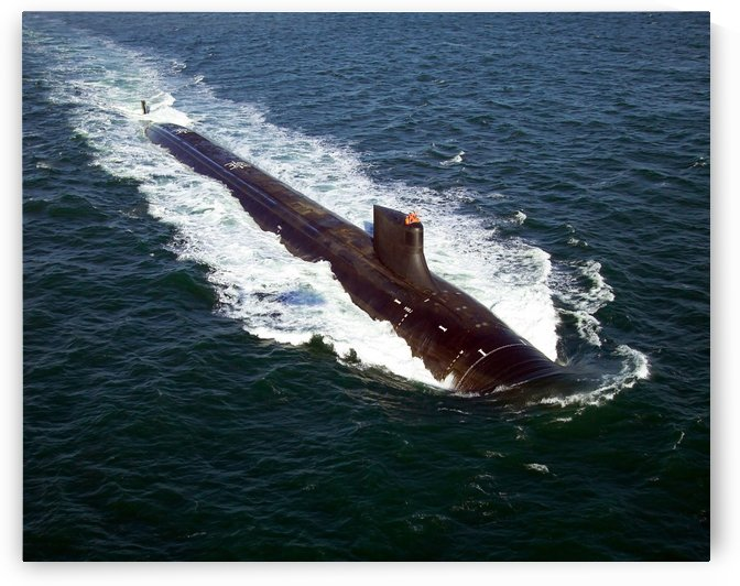 The Seawolf-class nuclear-powered attack submarine USS Jimmy Carter underway during sea trials. by StocktrekImages