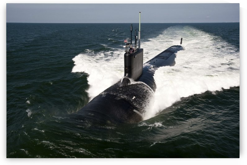 The Virginia-class attack submarine USS California. by StocktrekImages