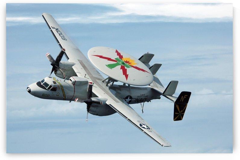 An E-2C Hawkeye in flight. by StocktrekImages