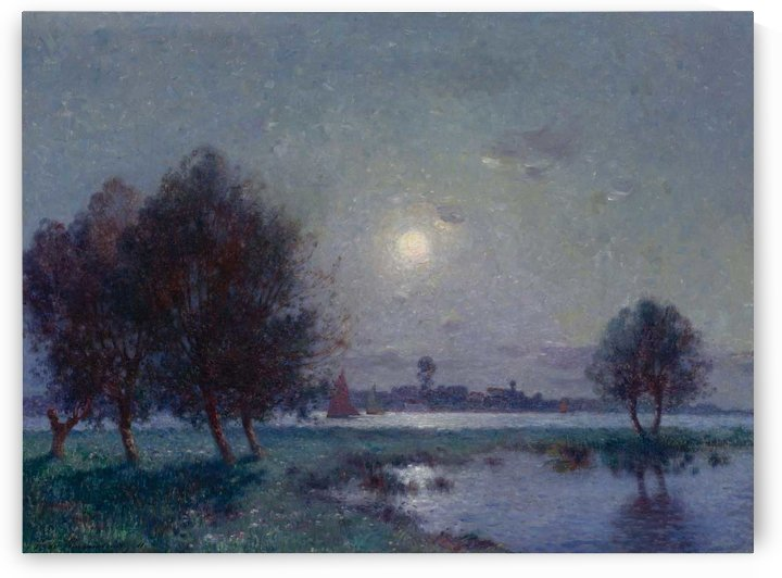 The Bank of Loire under Clear Moon by Ferdinand du Puigaudeau