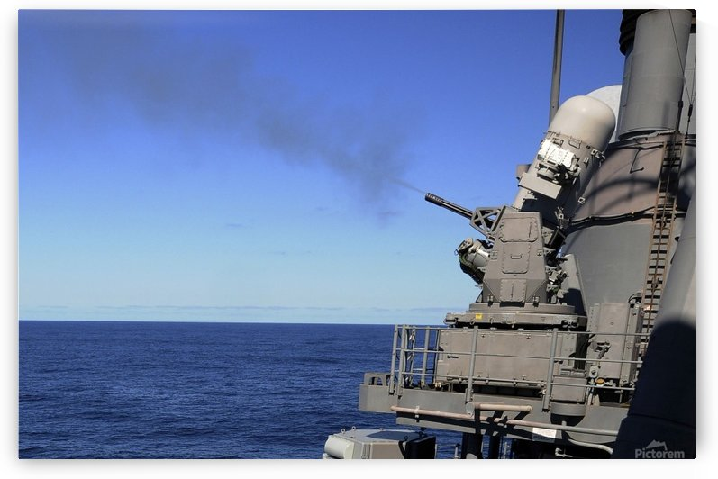 USS Monterey conducts a close-in weapons system live fire test. by StocktrekImages
