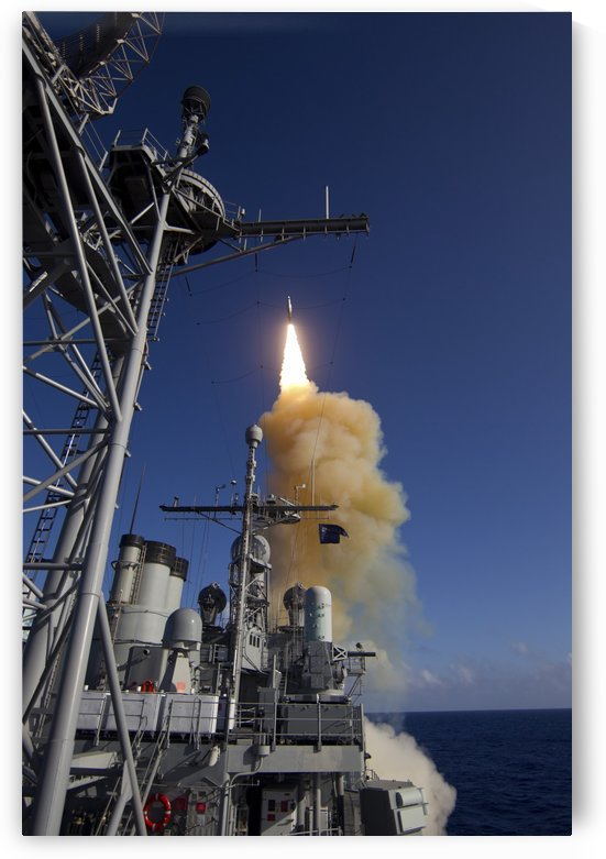 A Standard Missile-3 is launched from USS Lake Erie. by StocktrekImages