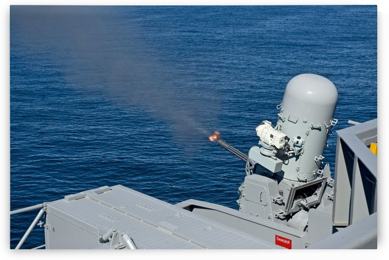 USS Harry S. Truman tests the Close-In Weapons System. by StocktrekImages