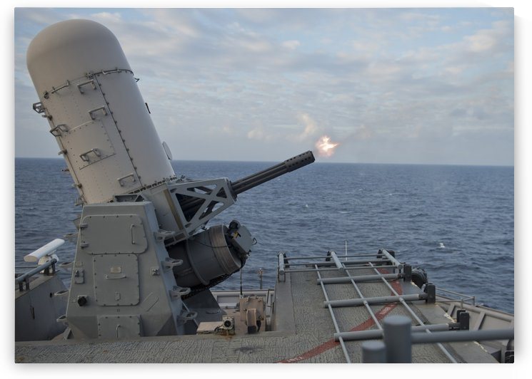 A close-in weapons system is fired aboard USS Tortuga. by StocktrekImages