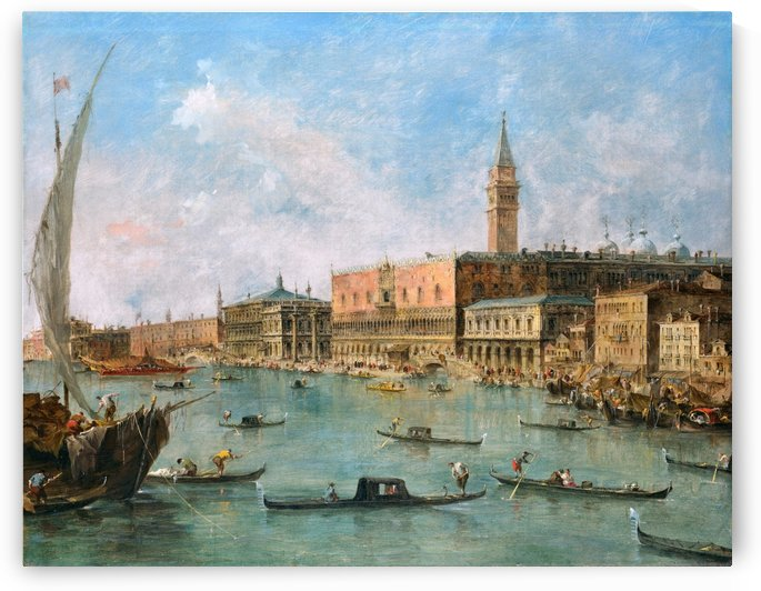 The Doge's Palace and the Molo by Francesco Guardi