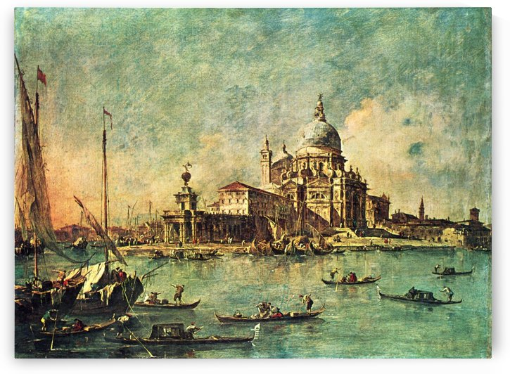 The Punta della Dogana by Francesco Guardi