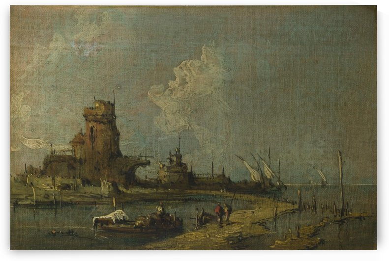 Caprice View with Ruins by Francesco Guardi