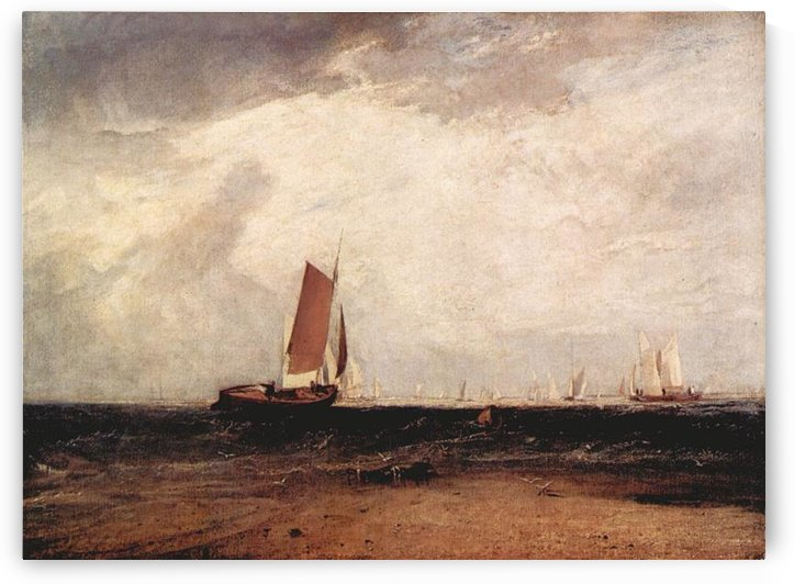 Fishing on the Blythe-Sand by Joseph Mallord Turner by Joseph Mallord Turner