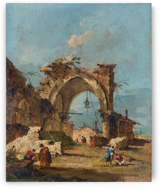 A Caprice with a Ruined Arch by Francesco Guardi