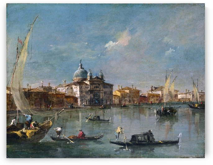 The Giudecca with the Zitelle by Francesco Guardi
