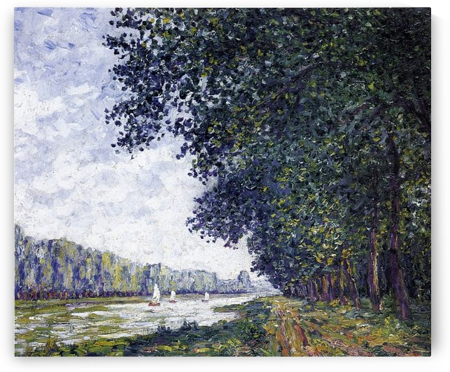 Canal of Moret, Winter Effect by Francis Picabia