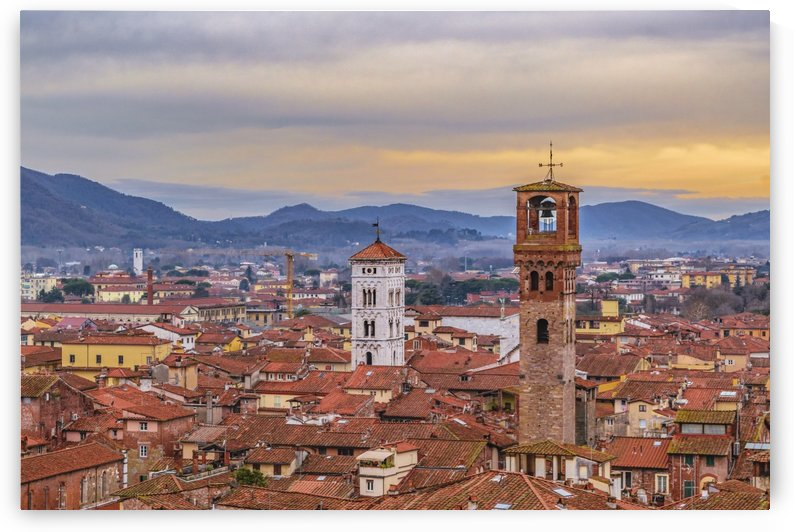 Aerial View Historic Center of Lucca, Italy by Daniel Ferreia Leites Ciccarino