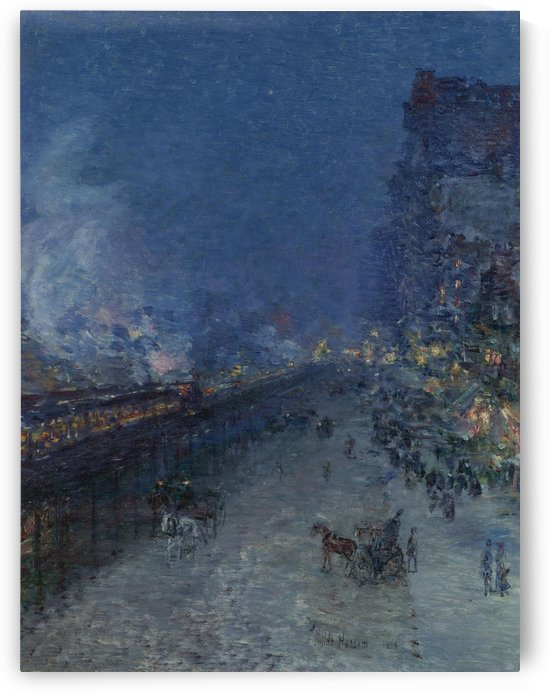 Night Train by Frederick Childe Hassam