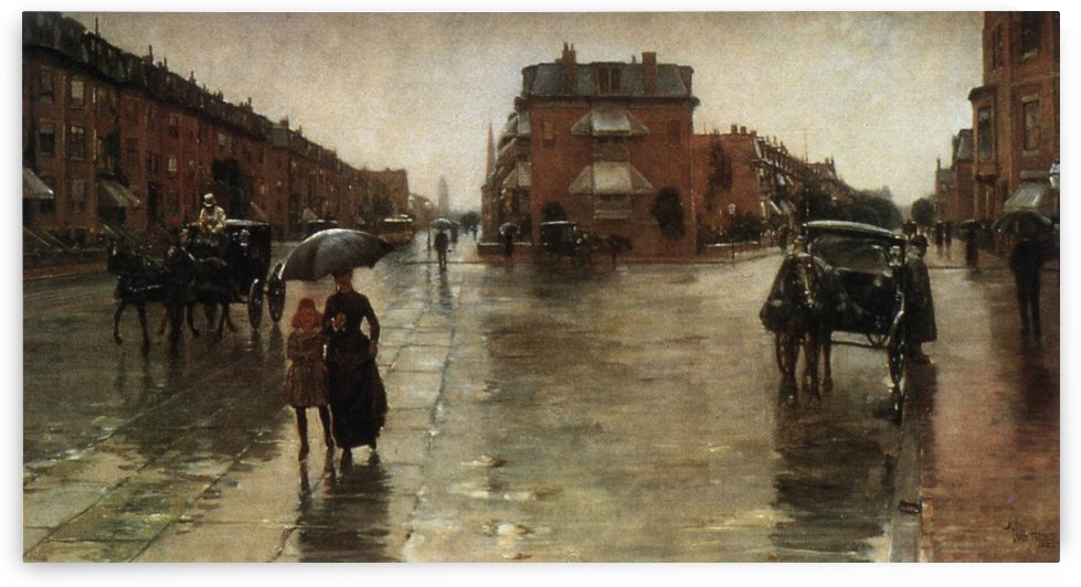 Rainy Day on the Avenue by Frederick Childe Hassam