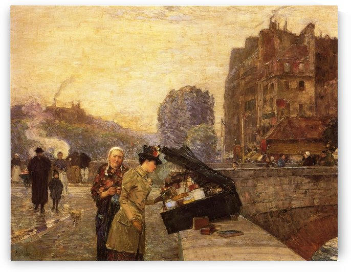 Quai St. Michel by Frederick Childe Hassam