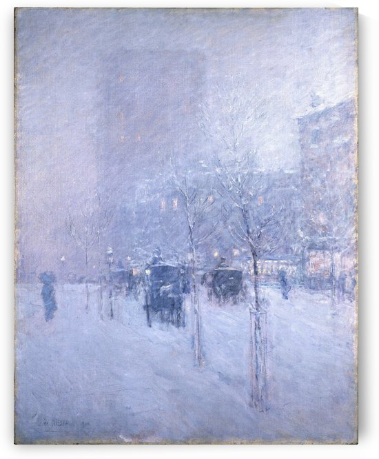 The Promenade, Winter in New York by Frederick Childe Hassam