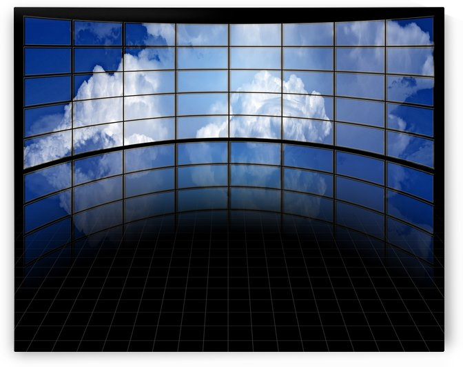 Large Screens with Clouds by Bruce Rolff