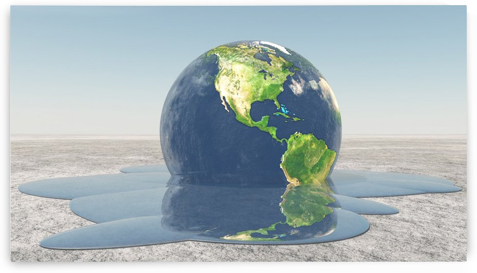 Global Warming. Planet Earth by Bruce Rolff