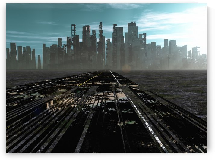 Road to dead city by Bruce Rolff
