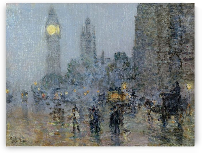 Nocturne - Big Ben by Frederick Childe Hassam